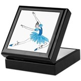 Blue Ballerina Keepsake Box