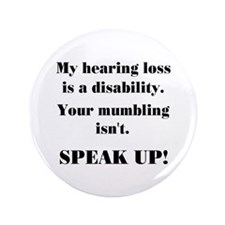 "SPEAK UP! 3.5"" Button"