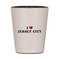 I Love Jersey City New Jersey Shot Glass