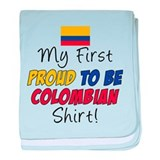 First Proud To Be Colombian baby blanket