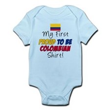 First Proud To Be Colombian Infant Bodysuit