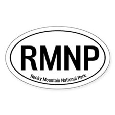 RMNP - Rocky Mountain National Park Oval Decal