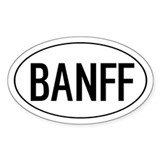 BANFF Oval Decal