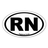 Registered Nurse Oval Bumper Stickers