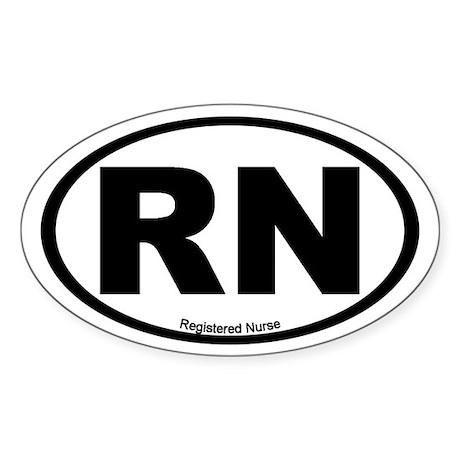 Registered Nurse Oval Sticker