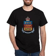 Quebec Coat Of Arms Black T-Shirt
