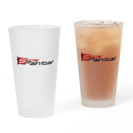 Social Paintball Black Logotype Drinking Glass