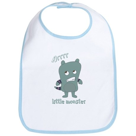Little Monster Rylan in Blue Bib