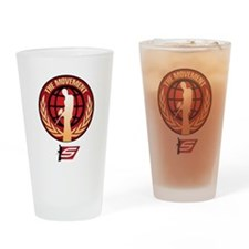 Social Paintball - Emblem Gold Drinking Glass