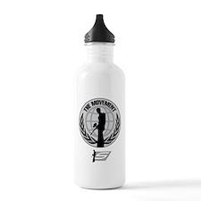 Social Paintball - Emblem Silver Water Bottle