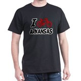 I Love Cycling Arkansas T-Shirt