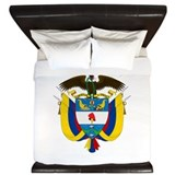 Colombia Coat Of Arms King Duvet