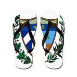 Cuba Coat Of Arms Flip Flops