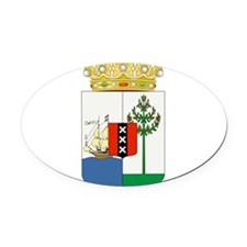 Curacao Coat Of Arms Oval Car Magnet