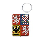 Czech Republic Coat Of Arms Aluminum Photo Keychai