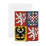 Czech Republic Coat Of Arms Greeting Card