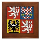 Czech Republic Coat Of Arms Framed Tile