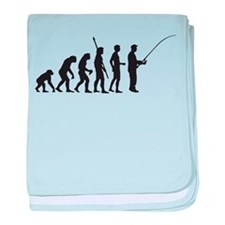 Evolution Fishing.png baby blanket
