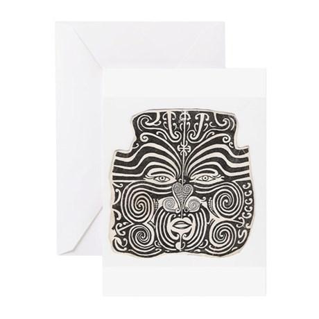 Tribal Face Tattoo Greeting Cards (Pk of 10)