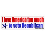 Love America & Vote bumpersticker