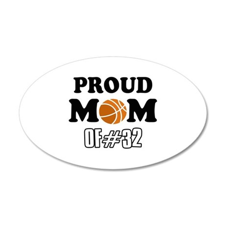 Cool Basketball Mom of number 32 35x21 Oval Wall D