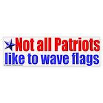 Patriots and Flags Bumper Sticker