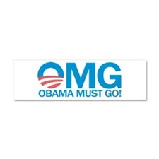 OMG Obama Must Go! Car Magnet 10 x 3