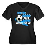 So Good - Soccer Women's Plus Size V-Neck Dark T-S