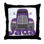 Trucker Jada Throw Pillow