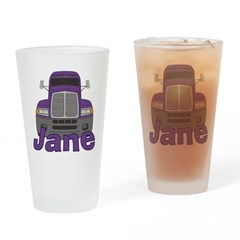 Trucker Jane Drinking Glass