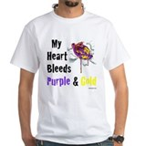 Heart bleeds purple Gold Shirt