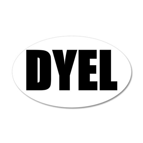 DYEL 20x12 Oval Wall Decal