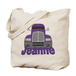 Trucker Jeanne Tote Bag