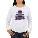 Trucker Jeanne Women's Long Sleeve T-Shirt