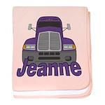 Trucker Jeanne baby blanket