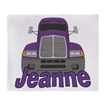 Trucker Jeanne Throw Blanket