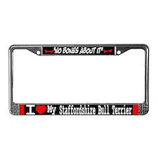 NB_Staffordshire Bull Terrier License Plate Frame