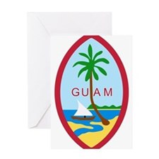 Guam Coat Of Arms Greeting Card
