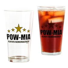 POW-MIA Always Remembered Drinking Glass
