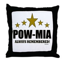 POW-MIA Always Remembered Throw Pillow