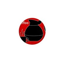 iCoffee Red Mini Button