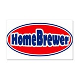 HomeBrewerOval.PNG Car Magnet 20 x 12
