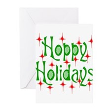 HoppyHolidays.png Greeting Cards (Pk of 20)
