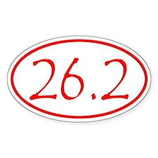 Red Marathon Distance 26.2 Miles