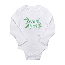 Funny Peas in a pod Long Sleeve Infant Bodysuit