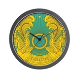 Kazakhstan Coat Of Arms Wall Clock