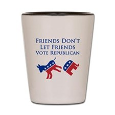 Democrat Friends Shot Glass