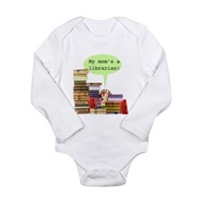 Cute Library Long Sleeve Infant Bodysuit