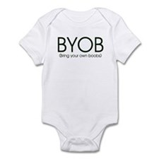 BYOB - Boobs (Breastfeeding) Funny Baby Snapsuit