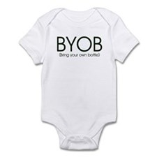 BYOB : Bring Your Own Bottle Funny Baby Bodysuit
